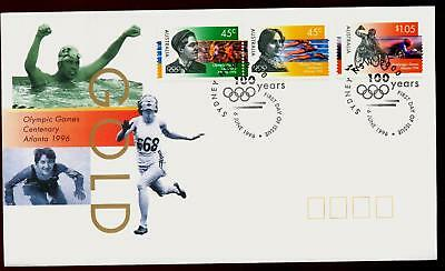 Australia 1996 First Day Cover FDC - Olympic Games Centenary Atlanta
