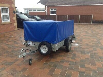 ifor williams P6E trailer with mesh sides, ramp and cover.