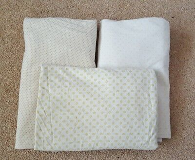 3 x  Baby Cot Toddler Bed Fitted Sheets  - Unisex - mothercare - 100% cotton