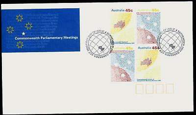 Australia 2001 First Day Cover FDC - Commonwealth Parliamentary Meetings