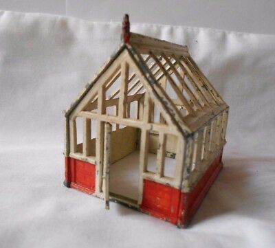 Rare Vintage Cherilea Greenhouse Orange Red Brick Wall and Cream Frame and Doors