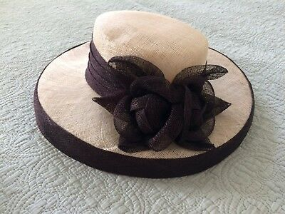 Black and Ivory Mother of the bride wedding hat