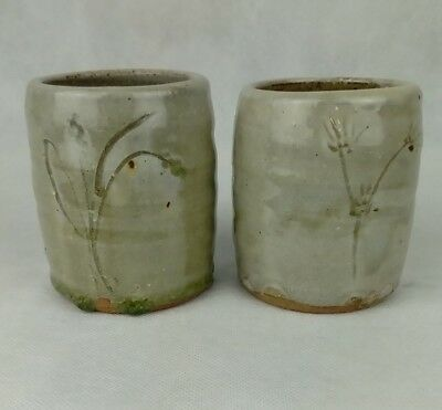 MIKE DODD STUDIO POTTERY YUNOMI. Pair of Cups.