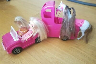 Barbie Car And Horse Trailer