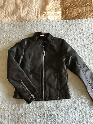 Lovely Girls Leather Look Jacket Age7-8