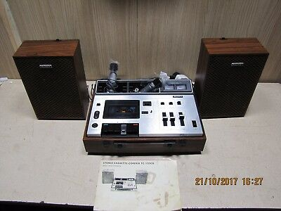 Sony TC-133CS vintage tapecorder with speakers and amplifier built in