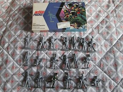 Vintage Boxed Set (19) Of Action Pack Battle Of Waterloo Prussian Infantry 1:32