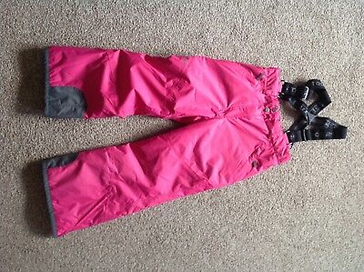 GIRLS Pink ski salopettes size  7-yrs
