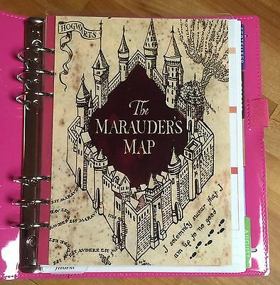 Harry Potter *Marauder's Map* Cover Set made for use with Filofax A5 Planner