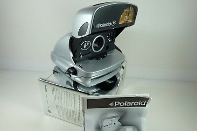 POLAROID P 600 Instant Film Camera (Silver) In Original Box With Instruction