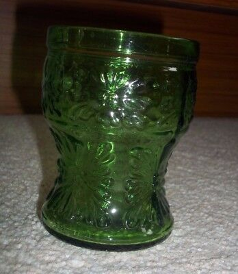"Green ""Carnival"" style Glass made in Italy"