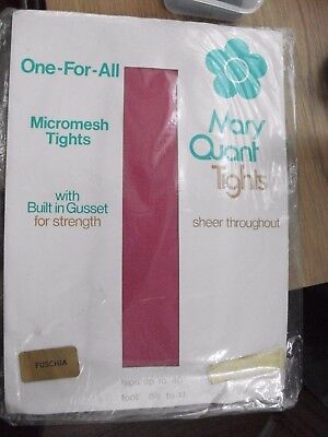 vintage mary quant pink tights