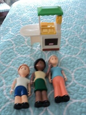 Vintage Little Tikes Dollhouse Family Figures Doll Mom Dad Sister Baby Lot