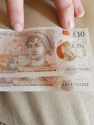 new 10 pound note am14752251Am14752252