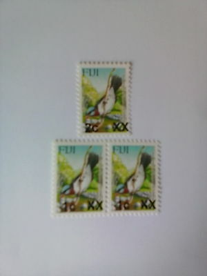 Fiji  Bird definitives  overprints  um