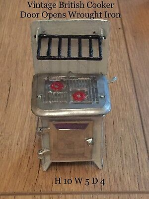 Antique Vintage Dolls House Miniature Cooker Wrought Iron  English T & B Fab