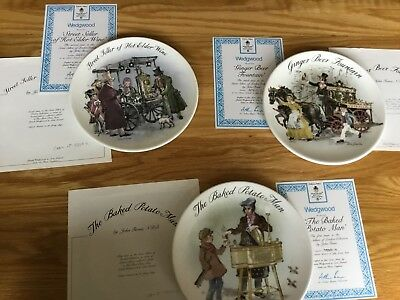 Wedgewood street sellers collector plates x 3