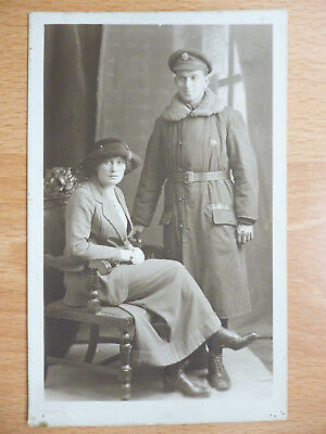 Ww1 Soldier & Wife Photo By Usa Studios Of London & Provinces