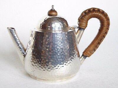 Solid Sterling Silver small teapot Arts and Crafts 1911. Spurrier & Co Birminghm