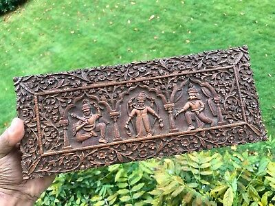 Antique Anglo Indian Carved Sandalwood Box. Superb Condition.1890.good Perfume !