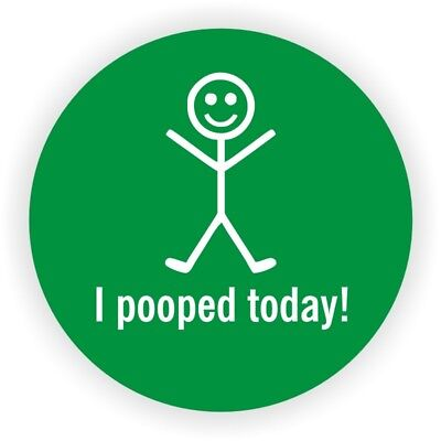 (10) I POOPED TODAY Funny Hard Hat Stickers | Vinyl Helmet Decals Labels Badges