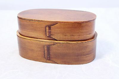 Japanese Bento Lunch Box Magewappa lacquering natural wood New (Double box)