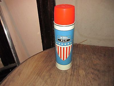 Vintage 1975 Thermos - American Flag Shield - Metal King Seeley