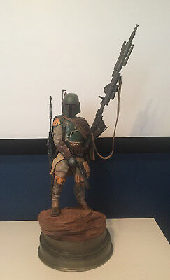 Star Wars Boba Fett Mythos Statue by Sideshow !  Includes Art Print !