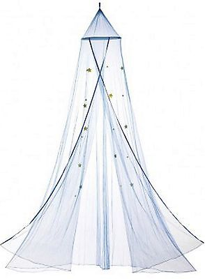Beautiful ** BLUE STARRY SKY BED CANOPY W/ BLUE STARS ALL OVER NET ** NIB