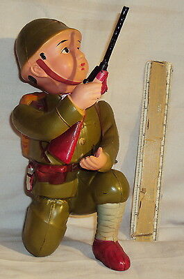 Vintage Wind-Up Celluloid Army Soldier Japan 1950's