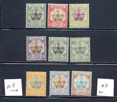 Bermuda Dry dock stamps with both watermarks mlh mnh  110.35+