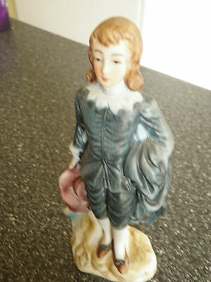 Little Boy Blue  Ceramic Figurine Made in Japan
