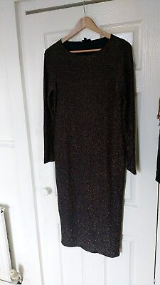 Topshop Maternity Bodycon Sparkley Christmas Party Dress Size  14