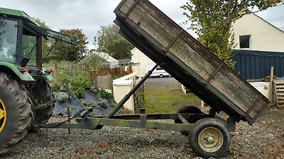 3 ton tipping  trailer for  agricultural tractor