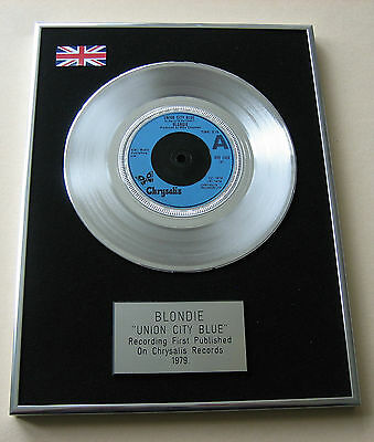 BLONDIE Union City Blue PLATINUM Single DISC Presentation