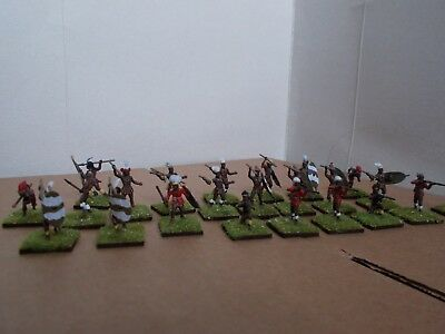 1/72 Painted Soldiers, Zulu Warriors X22 Italeri