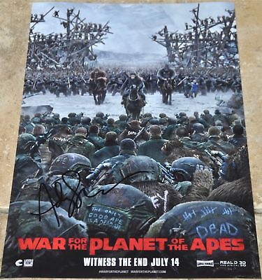 "Andy Serkis Signed 12"" x 8"" Colour Photo War For The Planet Of The Apes"