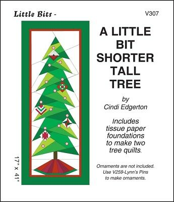 A Little Bit Shorter Tall Tree Pattern + Tissue Paper Foundations 2 Tree Quilts