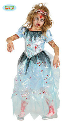 Children's Halloween Zombie Prom Queen Princess Costume
