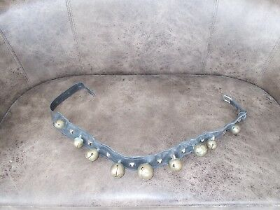 Antique Victorian Donkey/pony Collar With 9 Bells