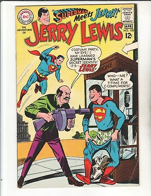 JERRY LEWIS #105 1968 Rare Superman Luther XOver High Grade