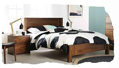 Paddy 3 Piece DOUBLE Size Honey Solid Hardwood Bedroom Suite - BRAND NEW
