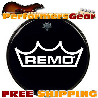 "Remo ES-0015-00 15"" Ebony Ambassador Batter Drum Head"