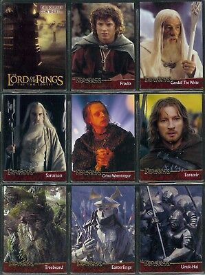 The Lord Of The Rings The Two Towers - A Complete Topps 2003 Trade Card Set