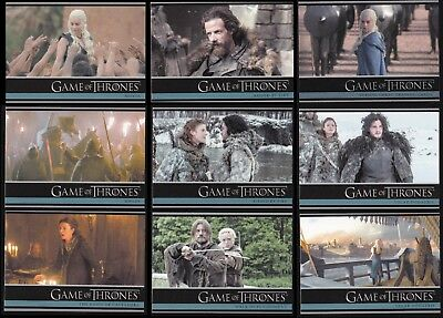 Game Of Thrones Season 3 - A Complete Rittenhouse 2014 Trade Card Set