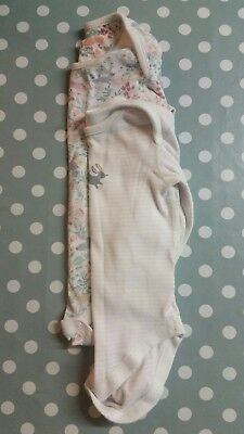 ☆☆☆ Baby Girls Long Sleeved Vests ☆☆☆ M&s Pair. 12-18 Months. Rabbits.