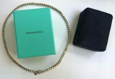 Womens Tiffany sterling silver Venetion box link necklace
