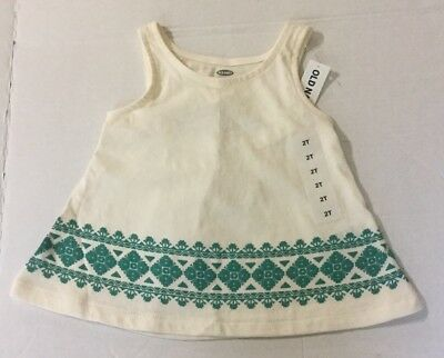 New Girls Old Navy Flare Open Back Tank Top Size 2t