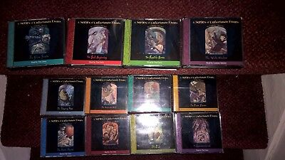 x12 A SERIES OF UNFORTUNATE EVENTS AUDIO BOOKS CD'S , LEMONY SNICKET, TIM CURRY