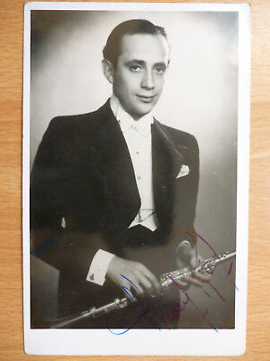 Clarinet Player Musician Signed Autographed Postcard
